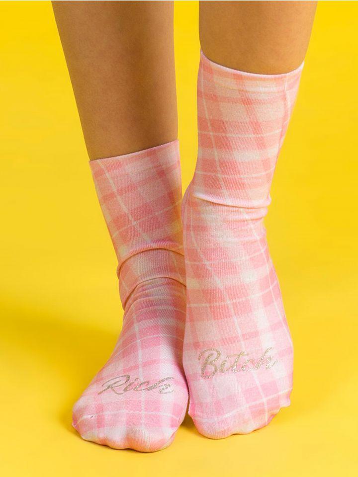 גרביים ורודות RICH B**CH