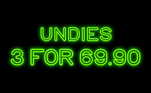 panties 3 for 69.90