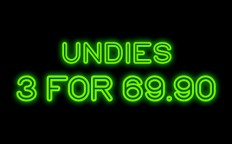 3 PANTIES = 69.90 NIS